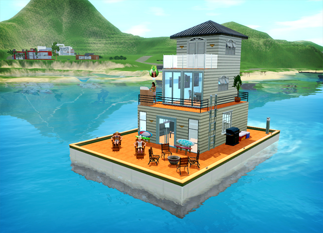 Blog - Community - The Sims 3 - Exotic Houseboat Designs