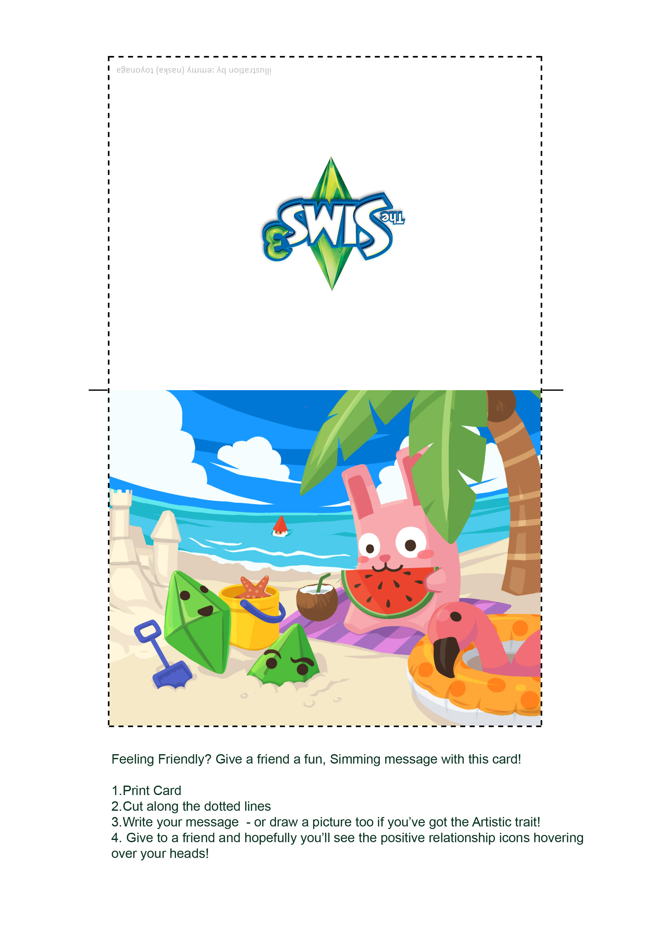 The Sims 3 Summer Greeting Card