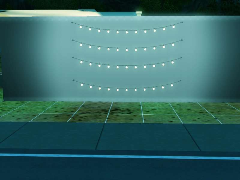 You can move the wall string lights up and down