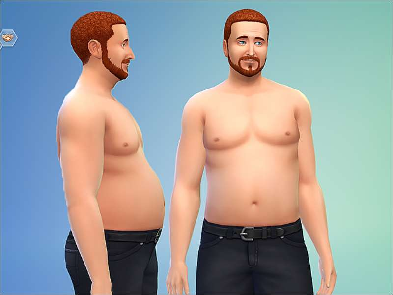 The Sims 4 Muscle guys look really weird and the fat are not