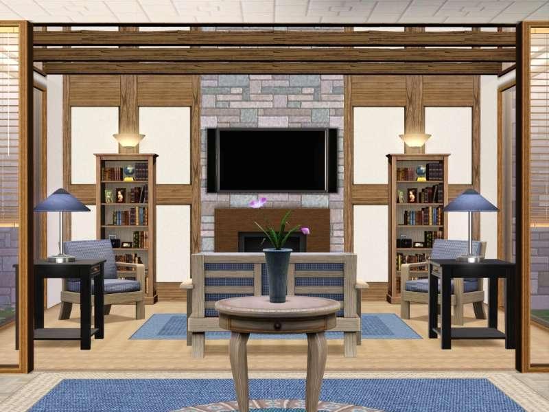 new  base game no store no cc contempo cream by gokukaren Loft Rooms Design Ideas Loft Stairs