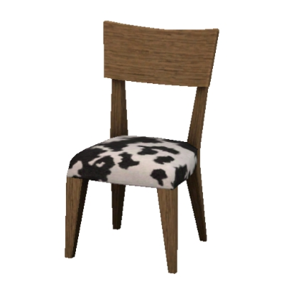 Dining chair with cow-print upholstery - brown wood by FoxxVox - The  Exchange - - Cow Print Dining Chair ReTask