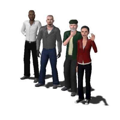 Left 4 Dead Survivors By The B By The Sims B The