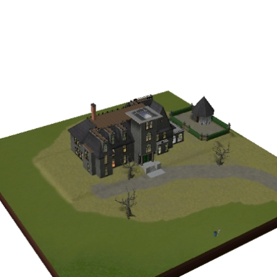 The Addams Family Mansion By Simern4 The Exchange Community The Sims 3