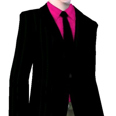 Dark Pink Shirt With Black Tie and Blazer by jordanspurs - The ...