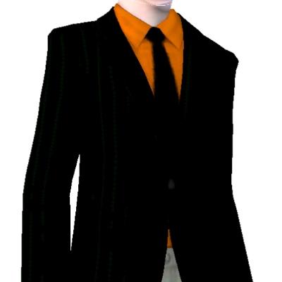 Black Blazer Black Shirt Red Tie Orange Shirt With Black Tie