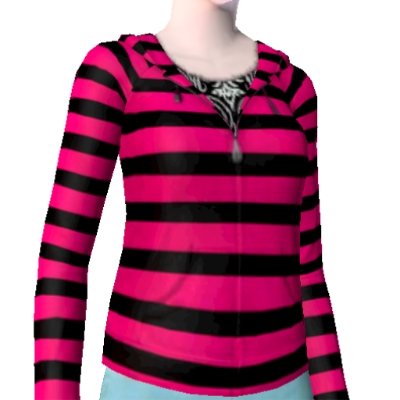 pink and black striped hoodie by newbie432 - The Exchange - Community
