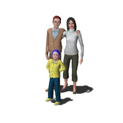 Coraline Jones Family By Miyu974 The Exchange Community The Sims 3