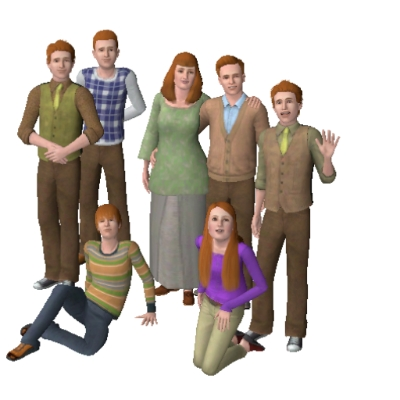 Weasley Family by Slytherin94 - The Exchange - Community - The Sims 3