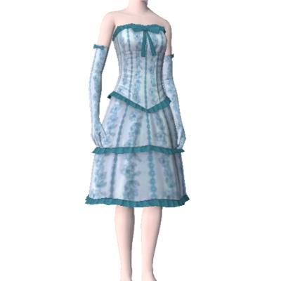 Cinderella blue afternoon tea dress by skitttles63 the Cinderella afternoon tea