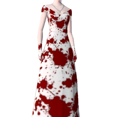 Bloodstained wedding dress bloodstained wedding dress created by