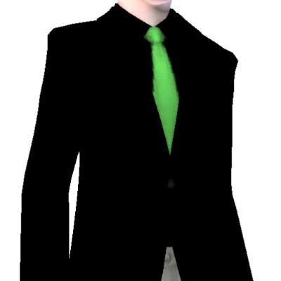 black suit dark green tie - photo #1