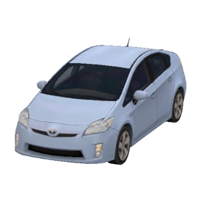 Powder Blue Prius