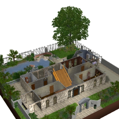 1890 Philippines Bahay Na Bato By Masta609 The Exchange Community The Sims 3