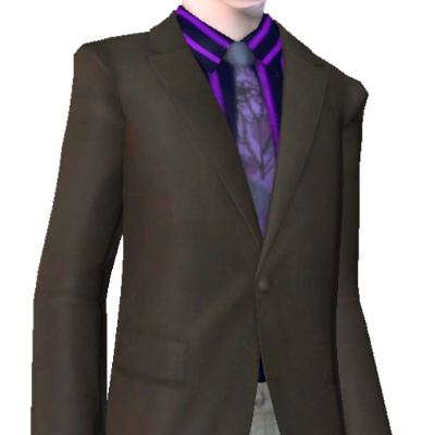 Dark Grey Suit With Purple Shirt And Tie By Coreydl The