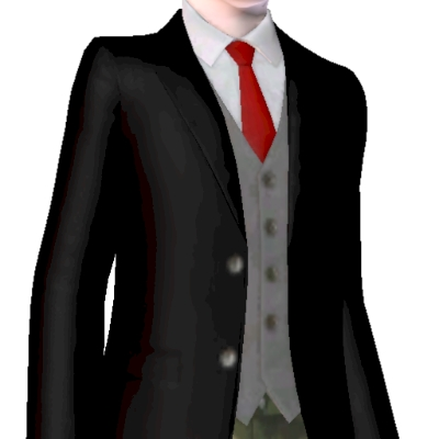 layered black suit with red tie by pctcm - The Exchange ...