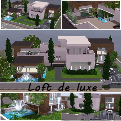 Loft De Luxe By Foufii The Exchange Community The Sims 3