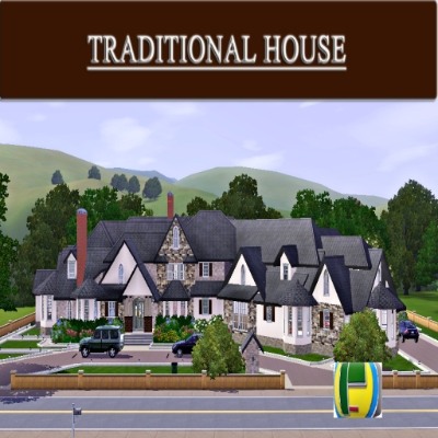 Traditional House Walkout Basement 3, How To Make A Walkout Basement Sims 3