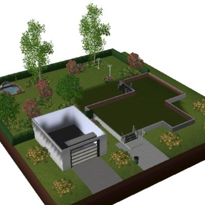 maison moderne par maison moderne - L\'Echange - Communauté - Les Sims 3