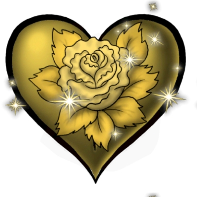 Golden Rose Heart Golden Rose Heart Tattoo by