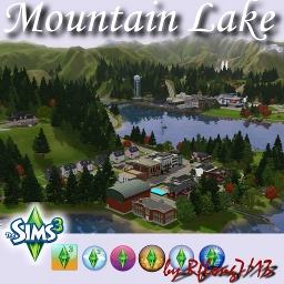 Mountain Lake By Rflong The Exchange Community The Sims - Blank world map sims 3