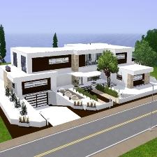 Modernes haus von ur1705 der exchange community die for Sims 3 modernes haus zum nachbauen