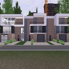 Modern apartment complex by stevesuzz the exchange for Apartment design sims 3