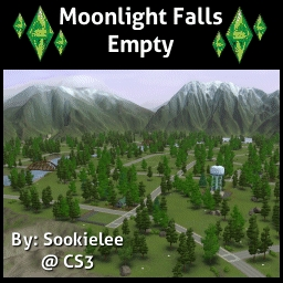Moonlight Falls Empty By Sookielee The Exchange Community - Blank world map sims 3