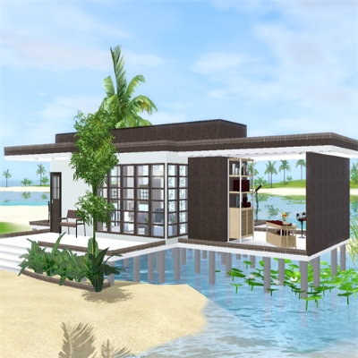 modern beach house by stevesuzz  the exchange  community  the, sims 3 celebrity beach house (modern design), sims 3 celebrity beach house (modern design) download, sims 3 modern beach house
