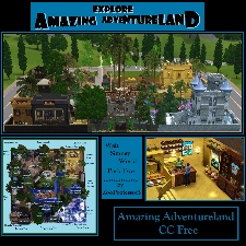 amazing adventureland no cc by zooprofessor3 the exchange community the sims 3