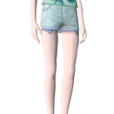 Sims 3 High Waisted Shorts Pastel High Waisted Shorts by