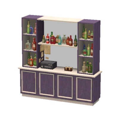Purple And White Liquor Cabinet By Babay_j   The Exchange   Community   The  Sims 3