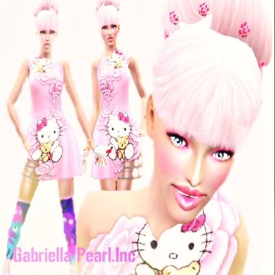Hello kitty petite dress by gabriellapearlinc the - Petite maison hello kitty ...