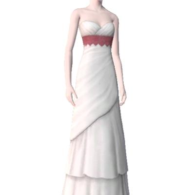 wei es hochzeitskleid mit rosa highlight by kathy26721. Black Bedroom Furniture Sets. Home Design Ideas