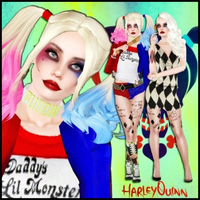 harley quinn v2 inc boots and puddin necklace by fruitydon the